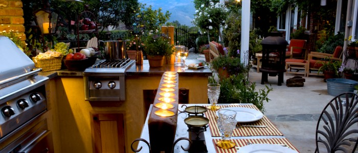 outdoor kitchen materials